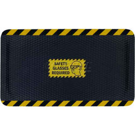 """Hog Heaven™ Sign Mat, Safety Glasses Required, Horizontal Yellow Border, 58""""x33""""x5/8"""""""