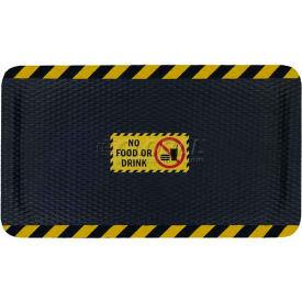 "Hog Heaven™ Sign Mat, No Food Or Drink, Vertical Yellow Border, 69""x46""x5/8"""