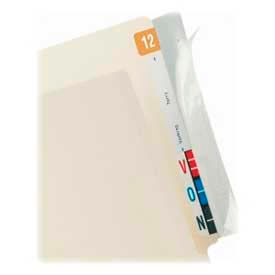 """Tabbies® Wrap Around Folder End Tabs, 8"""" x 2"""", Clear, 100/Pack"""