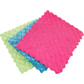 Libman Microfiber Sponge Cloths- Multicolored 3- Pack - 2103 - Pkg Qty 12