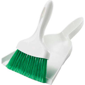 Libman® Commercial Dust Pan With Whisk Broom - White - Pkg Qty 6