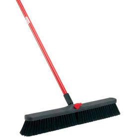 Libman Commercial Push Broom with Resin Block - 24 - Fine-Duty Bristles - 801 - Pkg Qty 4