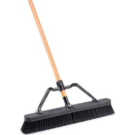 """Libman Commercial 24"""" Smooth Surface Industrial Push Broom - Pkg Qty 4"""