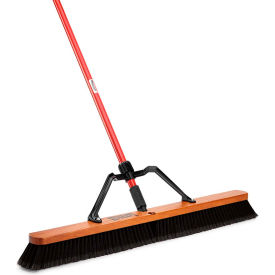 "Libman Commercial 36"" Smooth Sweep Push Broom - Brace Handle - Pkg Qty 3"