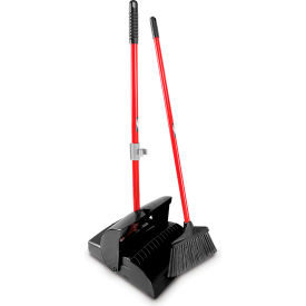 Libman Commercial Lobby Broom & Dust Pan Set - Closed Lid - Pkg Qty 2