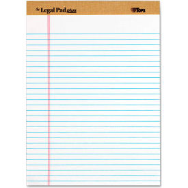 """TOPS® The Legal Pad Plus Rule Perforated Pads 71533, 8-1/2""""x11-3/4"""", White, 50 Shts/Pad, 12/Pk"""