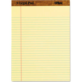 """TOPS® The Legal Pad Legal Rule Perforated Pads 75327, 8-1/2""""x11-3/4"""", Canary, 50 Shts/Pad, 3/Pk"""
