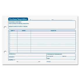 "Tops® Purchase Requisition Forms, 8-1/2"" x 5-1/2"", White, 100 Sheets/Pad, 2 Pads/Pack"