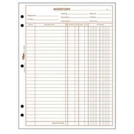 Paper Stationery Forms Tops 174 Inventory Sheets 1