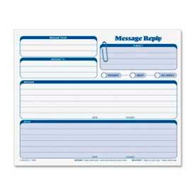 "Tops® Rapid Letter Message Forms, 3-Part, Carbonless, 8-1/2"" x 7"", 50 Sets/Pack"
