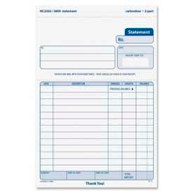 "Tops® Snap-Off Statement Forms, 2-Part, Carbonless, 5-1/2"" x 8-1/2"", 50 Sets/Pack"