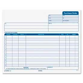 """Tops® Purchase Order Forms, 3-Part, Carbonless, 8-1/2"""" x 7"""", White/Canary/Pink, 50 Set/Pack"""