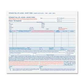"Tops® Bill Of Lading Forms, 4-Part, Carbonless, 8-1/2"" x 7"", White, 50 Sets/Pack"