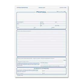 """Tops® Proposal Forms, 3-Part, Carbonless, 8-1/2"""" x 11"""", White/Canary Pink, 50 Sets/Pack"""