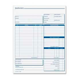 "Tops® Job Invoice with Material List, 3-Part, Carbonless, 8-1/2"" x 11"", 50 Sets/Pack"