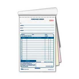 "Tops® Purchase Order Book, 3-Part, Carbonless, 5-9/16"" x 7-15/16"", 50 Sets/Pack"