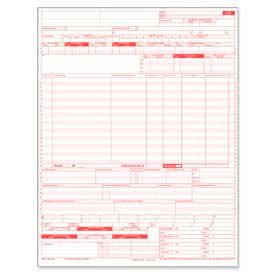 "Tops® Laser UB-04 Claim Forms, 1-Part, 8-1/2"" x 11"", White, 2500 Forms/Carton"