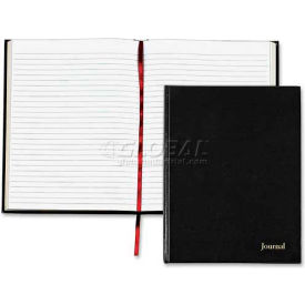 """Tops® Executive Journal, Legal Ruled, 8-1/2"""" x 11"""", Black Cover, 160 Pages/Pad"""