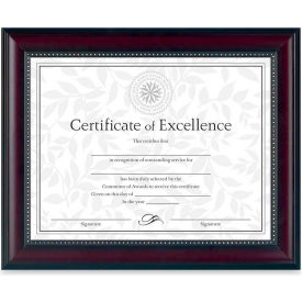 "Dax® Document Frame, Desktop/Wall Mountable, Horizontal/Vertical, 13-1/8"" x 10-5/8"", Rosewood"