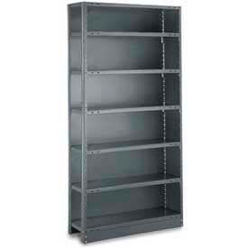 "Tri-Boro Klip-It Closed Add-On, CAK73-1236-7X, 36""W x 12""D x 73""H, 7 Shelves, 18 Ga, Dark Gray"