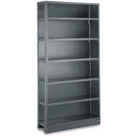 "Tri-Boro Klip-It Closed Add-On, CAK85-3042-8, 42""W x 30""D x 85""H, 8 Shelves, 20 Ga, Dark Gray"