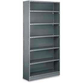 "Tri-Boro Klip-It Closed Starter, CSK73-1836-7, 36""W x 18""D x 73""H, 7 Shelves, 20 Ga, Dark Gray"