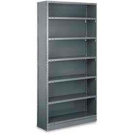"Tri-Boro Klip-It Closed Starter, CSK85-1236-6, 36""W x 12""D x 85""H, 6 Shelves, 20 Ga, Dark Gray"