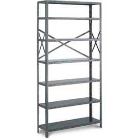 "Tri-Boro Klip-It Open Starter, OSK97-1236-8, 36""W x 12""D x 97""H, 8 Shelves, 20 Ga, Dark Gray"