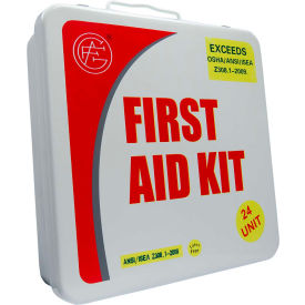 Unitized ANSI First Aid Kit, 24 Unit, Metal Case