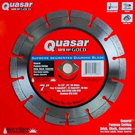 "7"" Quasar Rapid-Kut 100 ""Gold"" Segmented Diamond Blade"