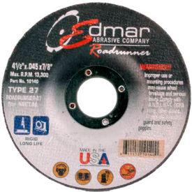 "Edmar Abrasive Company 10140 Cut-Off Wheel T27 4-1/2"" x .045"" x..."