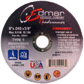 "Edmar Abrasive Company 10447 Cut-Off Wheel T1 6"" x .045"" x 7/8""..."