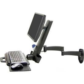 Ergotron® 200 Series Keyboard & Monitor Wall Mount Combo Arm, Black