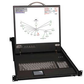 "Tripp Lite 16-Port Cat5 1U Rack-Mount 1+1 User Console KVM Switch with 19"" LCD and IP Remote Access"