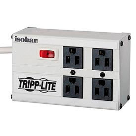 Isobar Surge Protector/Suppressor 4 Outlets 6' Cord 3330 Joules