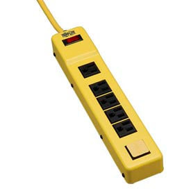 Power It! 6-Outlet Safety Power Strip OSHA Yellow 6-ft. Cord & Clip, Safety Covers