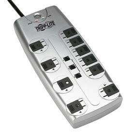 Protect It! Surge Protector/Suppressor 10 Outlets 8' Cord 2395 Joules