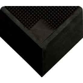"Wearwell Tall Wall Sanitizing Foot Mat w/2 1/2"" Edges Black, 2 1/2in x 32in x 39in"