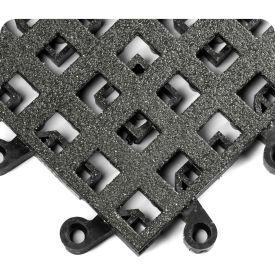 """Wearwell 561 ErgoDeck Heavy Duty Open Grid with Grit Shield 18""""X18"""" Black"""
