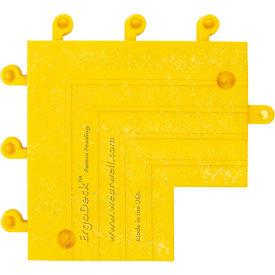 "Wearwell 561 ErgoDeck Heavy Duty Inside Corner with Grit Shield  6""X9"" Yellow"