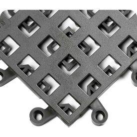 "Wearwell 564 ErgoDeck General Purpose Open Grid 18""X18"" Charcoal"