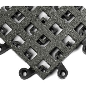 """Wearwell 565 ErgoDeck General Purpose Open Grid with GRIT SHIELD 18""""X18"""" Charcoal"""
