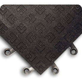 """Wearwell 567 ErgoDeck General Purpose Solid with GRIT SHIELD 18""""X18"""" Charcoal"""