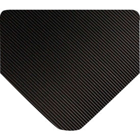"Wearwell 702 Corrugated Switchboard Matting 36""X5' Black"