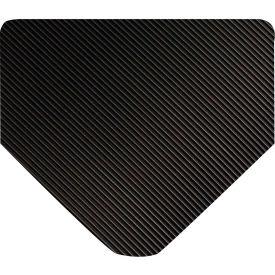 "Wearwell 702 Corrugated Switchboard Matting 48""X75' Black"