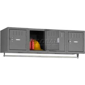 "Tennsco Wall Mount Box Locker BS1-121512-4 02 - 4 Person 12""W X 15""D X 12""H Assembled, Medium Grey"