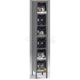 Tennsco C-Thru Box Locker CBL6-121512-1 214 - Six Tier w/Legs 1 Wide 12x15x12, Assembled, Sand
