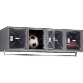 Tennsco C-Thru Wall Mount Box Locker CBS1-121812-4 02 - 4 Person 12 x 18 x 12 Assembled, Medium Grey