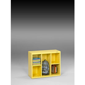 "Tennsco Cubby Cabinet CC-30-SYW - Welded 34-1/2""W x 13-1/2""D x 30""H SunFlower Yellow"