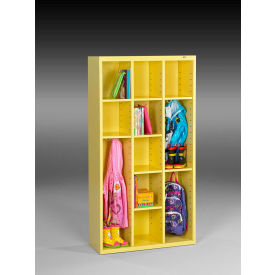 "Tennsco Cubby Cabinet CC-66-SYW - Welded 34-1/2""W x 13-1/2""D x 66""H SunFlower Yellow"